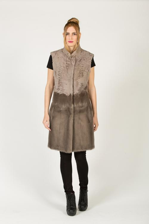 DV 442 FW 561 SWAKARA VEST+MINK+FABRIC DUSTY GREY+DUSTY GREY 40-90