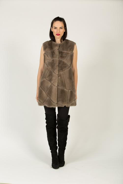 DV 453 F 518L MINK VEST DUSTY GREY 38-80